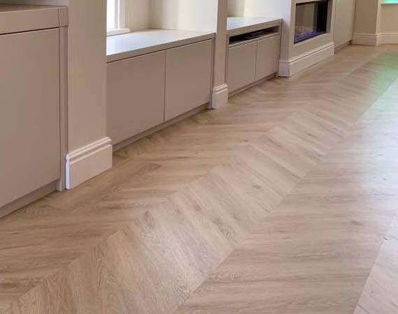 Luxury Vinyl Flooring, LVT, Floor Update, Renovation, Interior Design, Lounge Dining Room, Flooring with Pets, Living Room, Dining Room