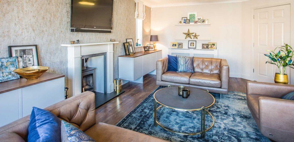 Three Interiors Living Room