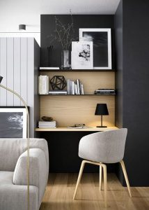 """Modern home office shelving"""
